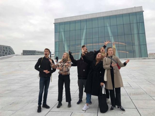 De danske elevene fikk også sett litt av Oslo