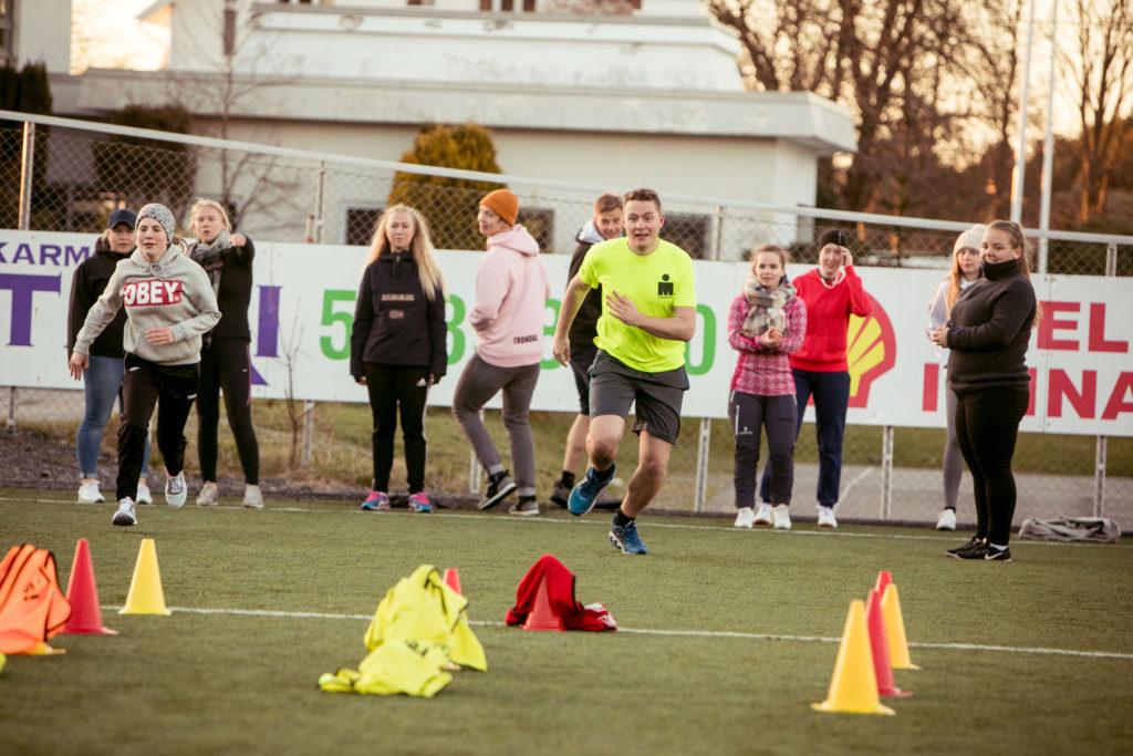 trening, klasse, fotballbane