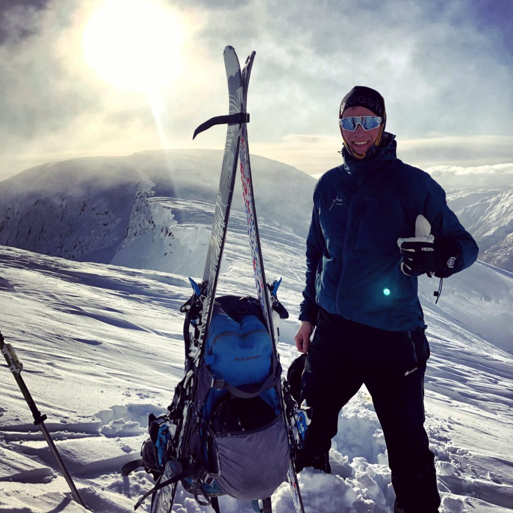 skitur, pause, sol, utsikt, Sogndal folkehøgskule