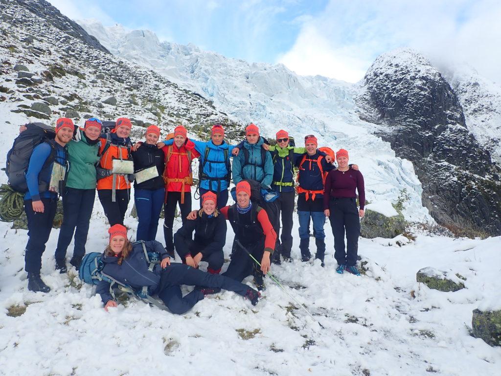klassebilde, gruppe, snø, vinter, Sogndal folkehøgskule