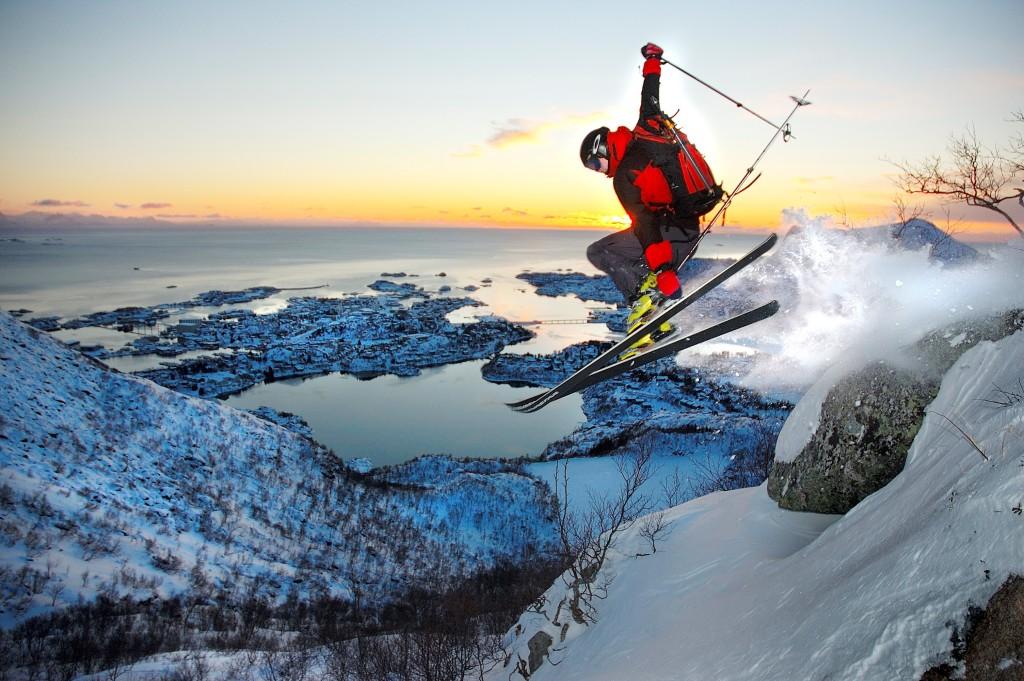 Ski Lofoten folkehøgskole hopp