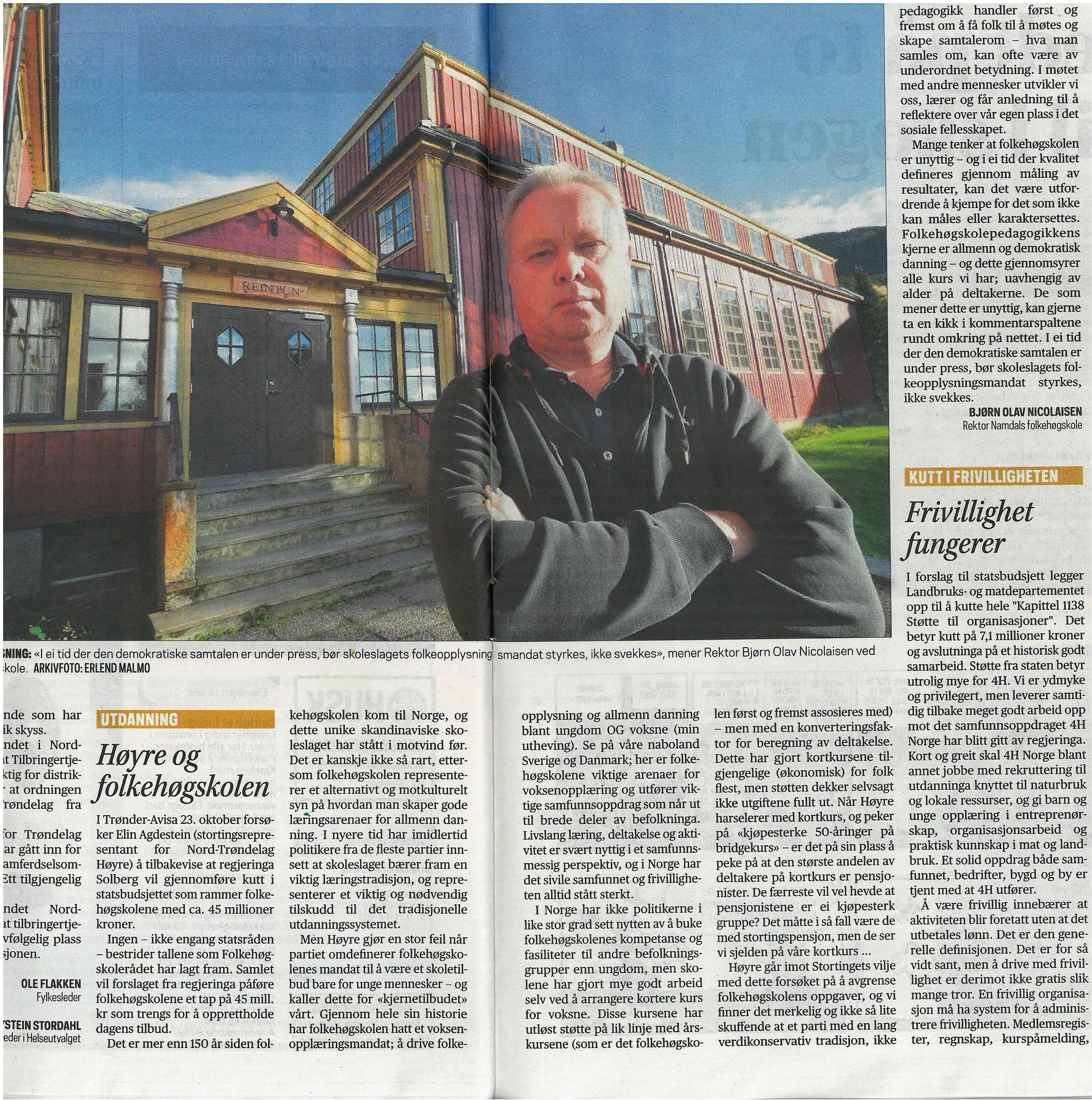 Avis klipp fra Trønder-Avisa.