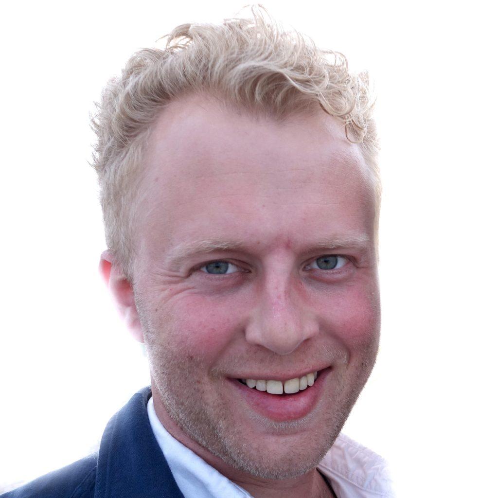 Portrett av blond mann