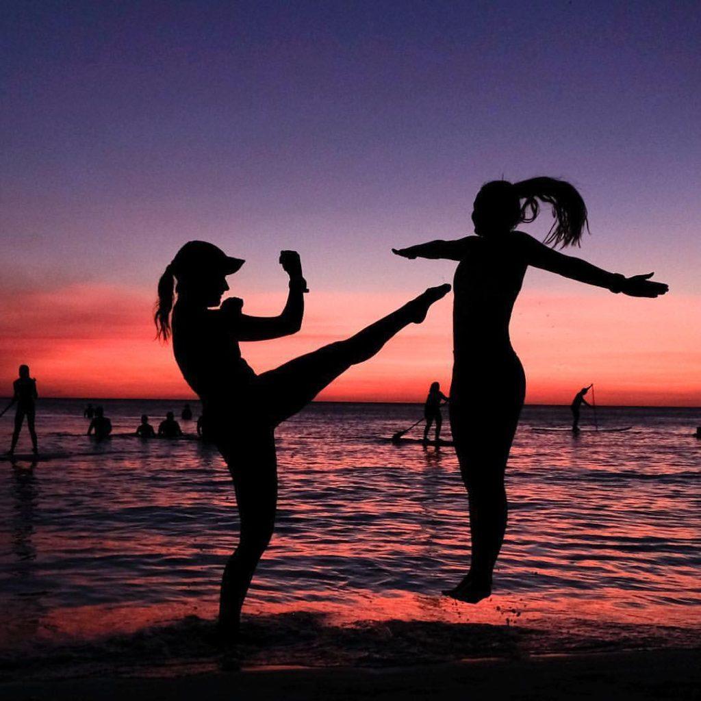 trening strand solnedgang Nordhordland folkehøgskole