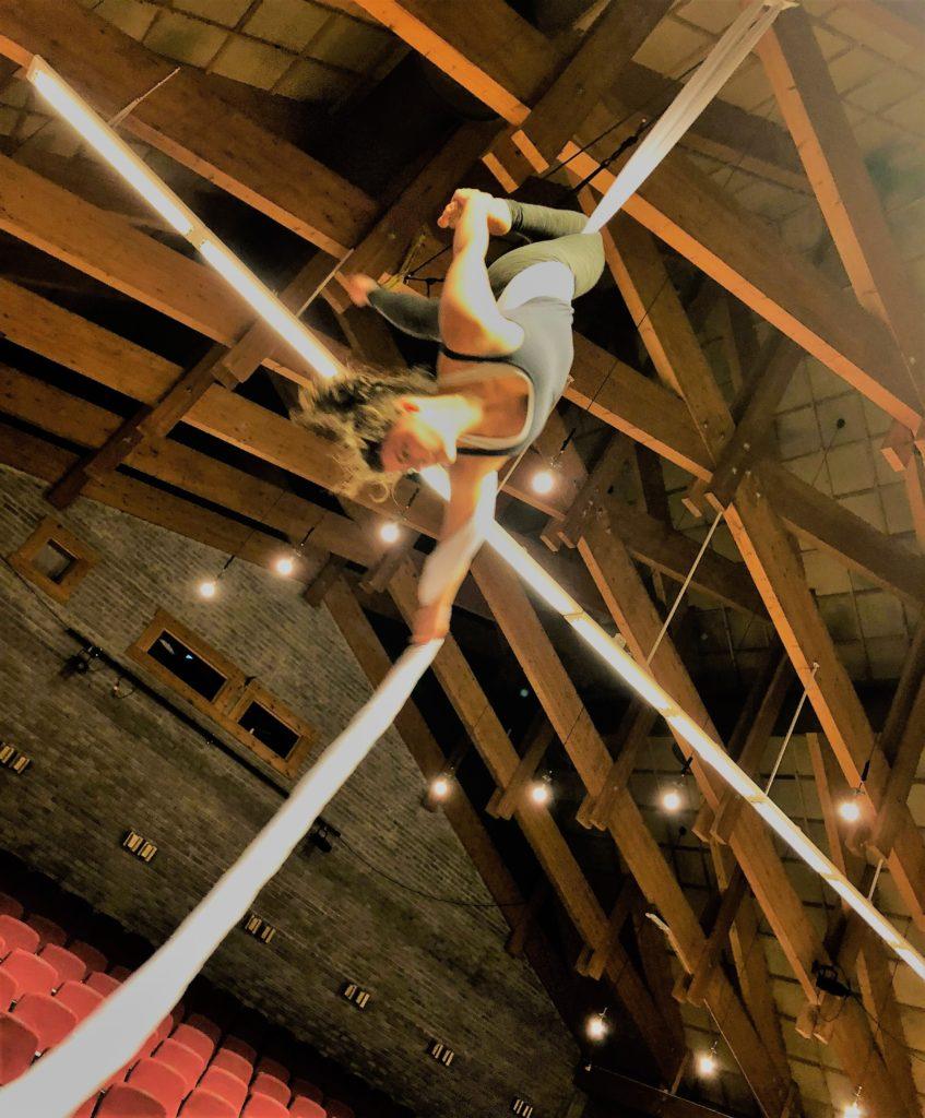 Jente, akrobatikk, nysirkus, arial silk