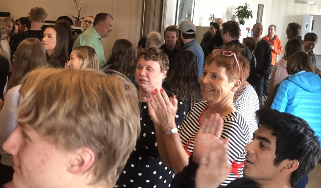 Kjersti Hovland, i stripete genser, har hatt hovedansvaret for Aktivitetsdagene