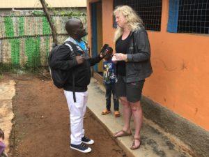 Rektor Live Hokstad ble intervjuet av lokalavisen i Kampala, Uganda