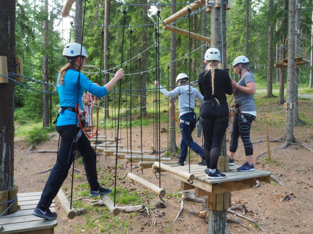 klatrepark Elverum folkehøgskole sommerkurs