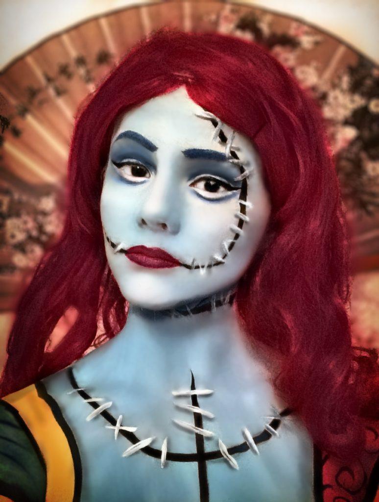 Halloween, Cosplay, Sally, effektsminke, Namdals folkehøgskole