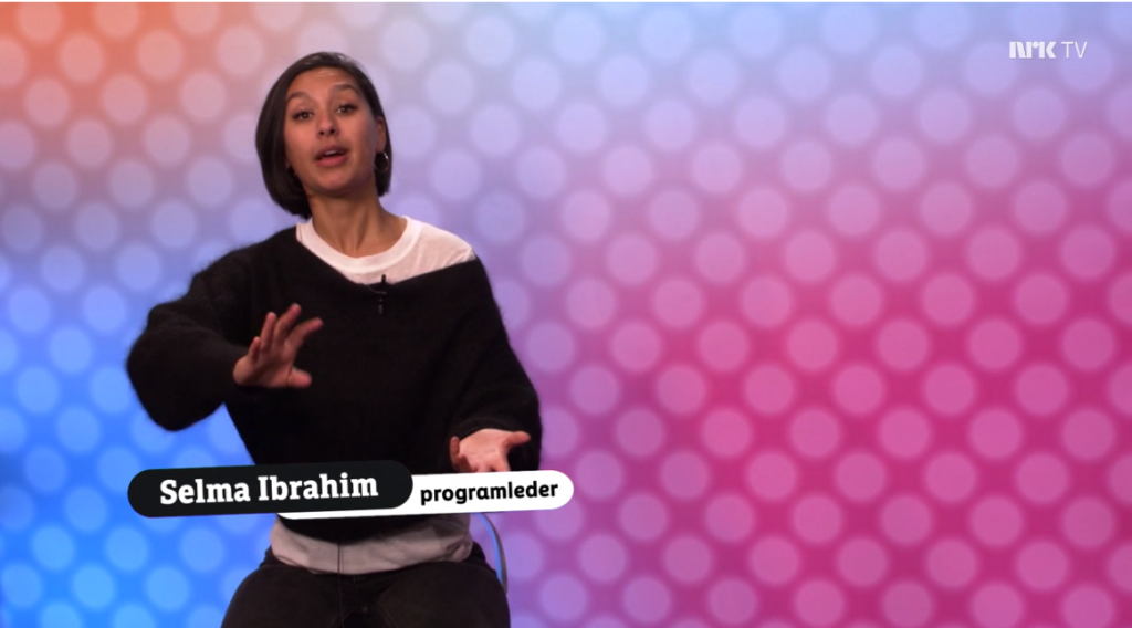 Selma Ibrahim programleder NRK Supernytt