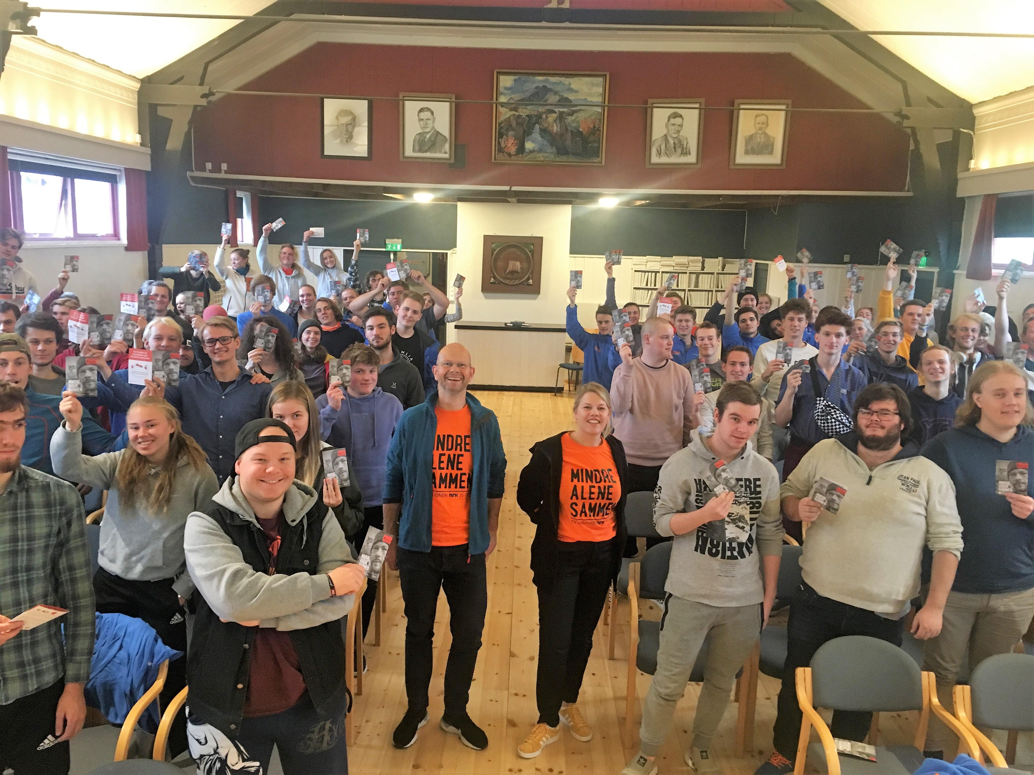 Tv-aksjonen Hordaland, elevflokk, Kirkens bymisjon, giverglede, folkehøgskole, fellesskap, solidaritet