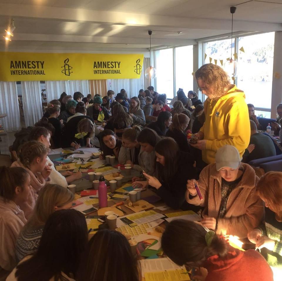 Skriveverksted, Amnesty, Skriv for liv, Åsane folkehøgskole, engasjement