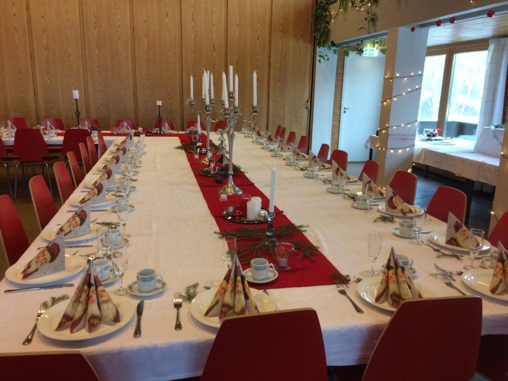 Langbord julaften Seljord folkehøgskule