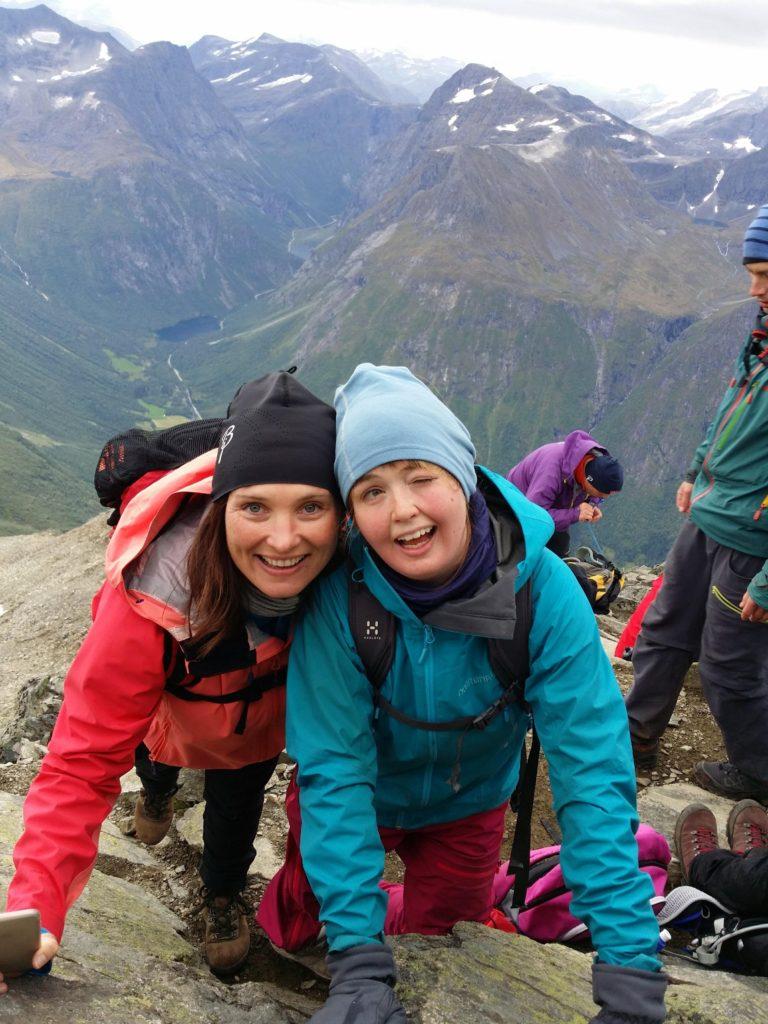 Jenny Ålesund folkehøgskole toppen av Slogen
