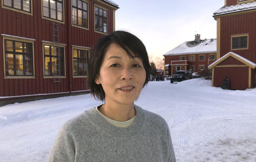 Hiroko Ishige flyttet fra storbyen Tokyo til bittelille Grong for å undervise ungdommer i japansk språk og kultur
