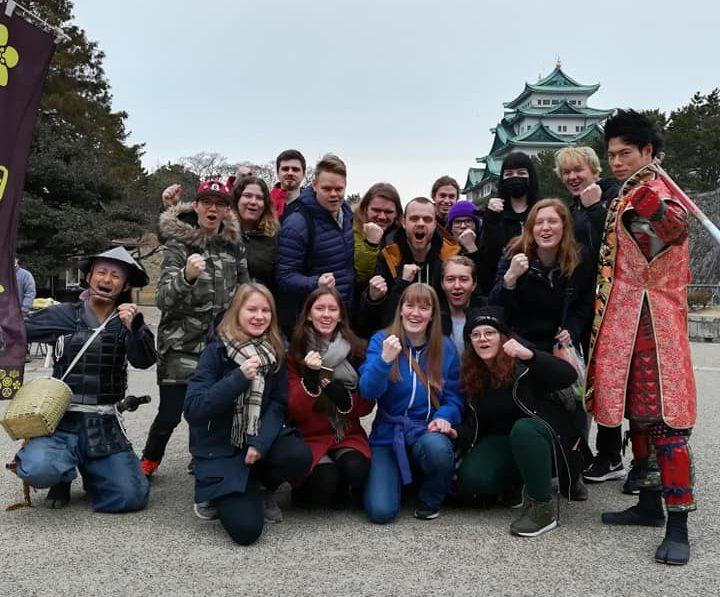 Backpack Japan fikk oppleve mange sider av Japan på studieturen dit. Foto; Namdals folkehøgskole