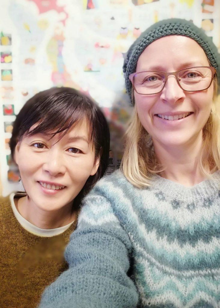 Hiroko Ishige og Tove Ertsås underviser begge på linjen Backpack Japan. Foto: Namdals folkehøgskole