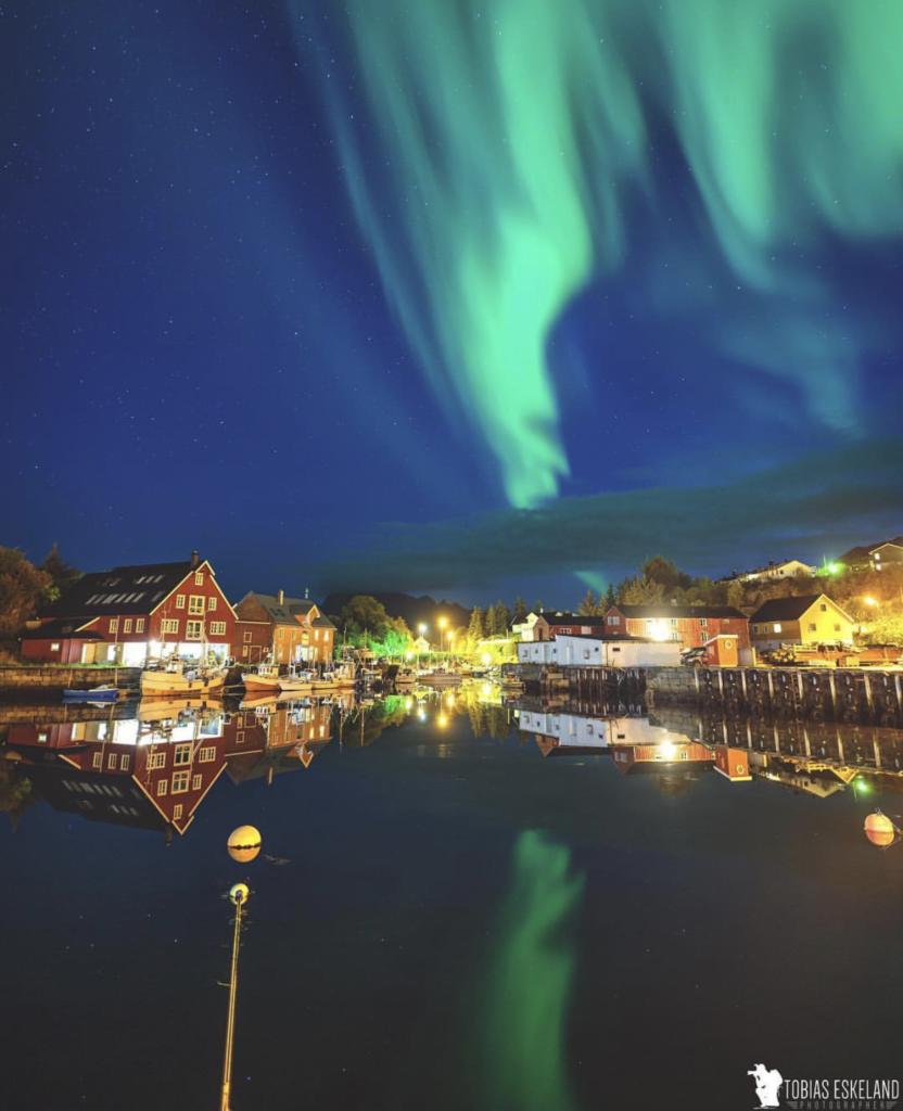 Lofoten folkehøgskole, nordlys, aurora borealis, Pia