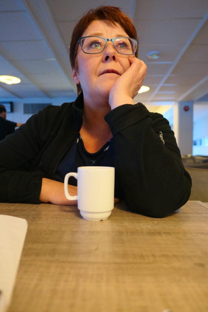 Pia, Lofoten folkehøgskole, renholder, mor godhjerta, kaffekopp