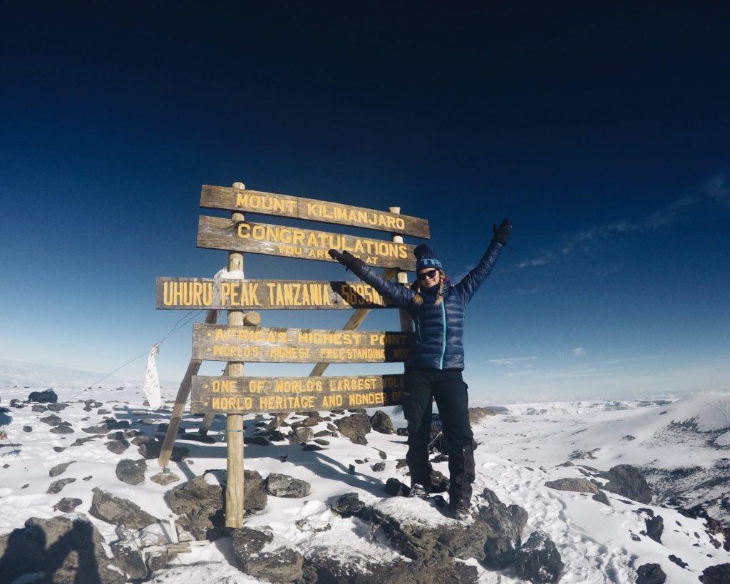 Kilimanjaro toppen Jenny Nesje Valdres folkehøgskole