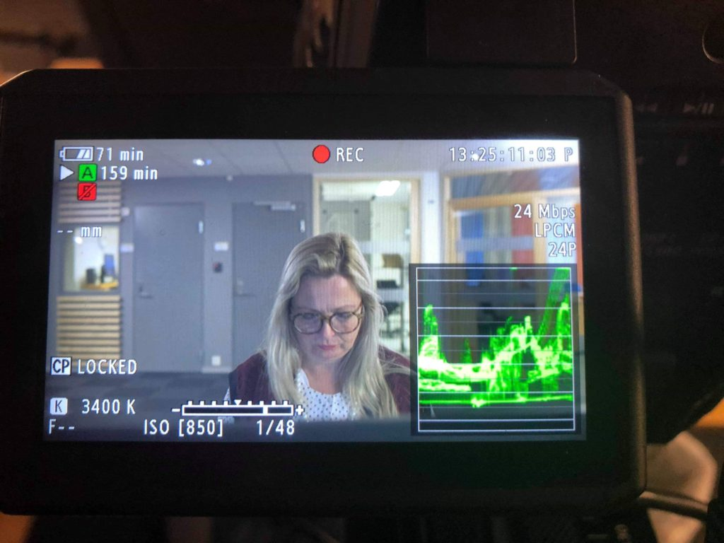 Bak kamera innspilling kortfilm Danvik folkehøgskole