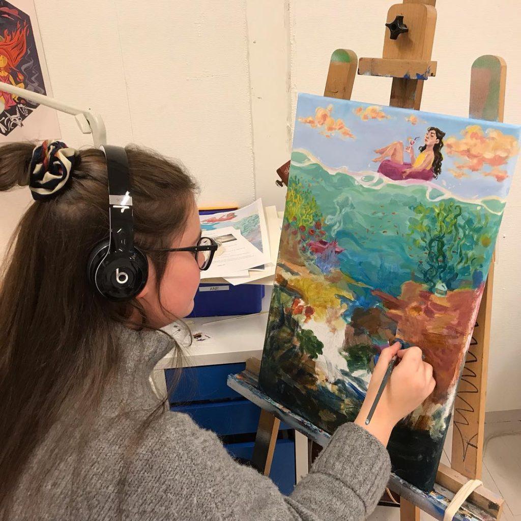 Kunst maling Ringerike folkehøgskole
