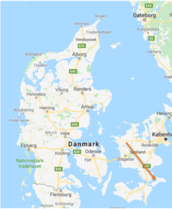 Teaterhøjskolen Rødkilde ligger på Møn sør i Danmark