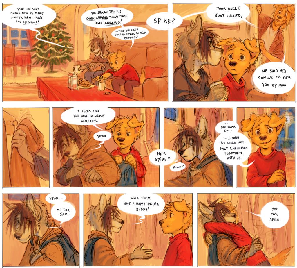tegneseriestripe, Spike og Sam, julefortelling i Nemi