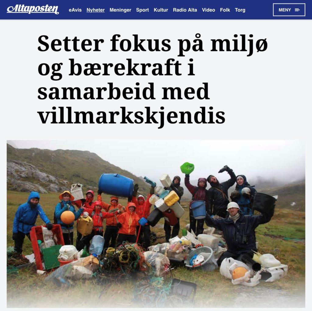 Norske medier har også fått med seg at det er et fokus på miljø og bærekraft på norske folkehøgskoler. Her er er det et bærekraftprosjekt på Alta folkehøgskole som dekkes i Altaposten.