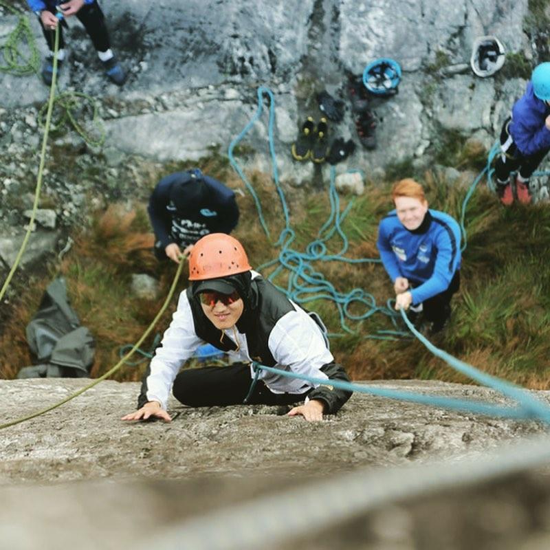 klatring elever folkehøgskole