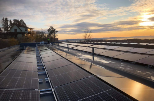 Rønningen folkehøgskole har Oslos tredje største solscelleanlegg