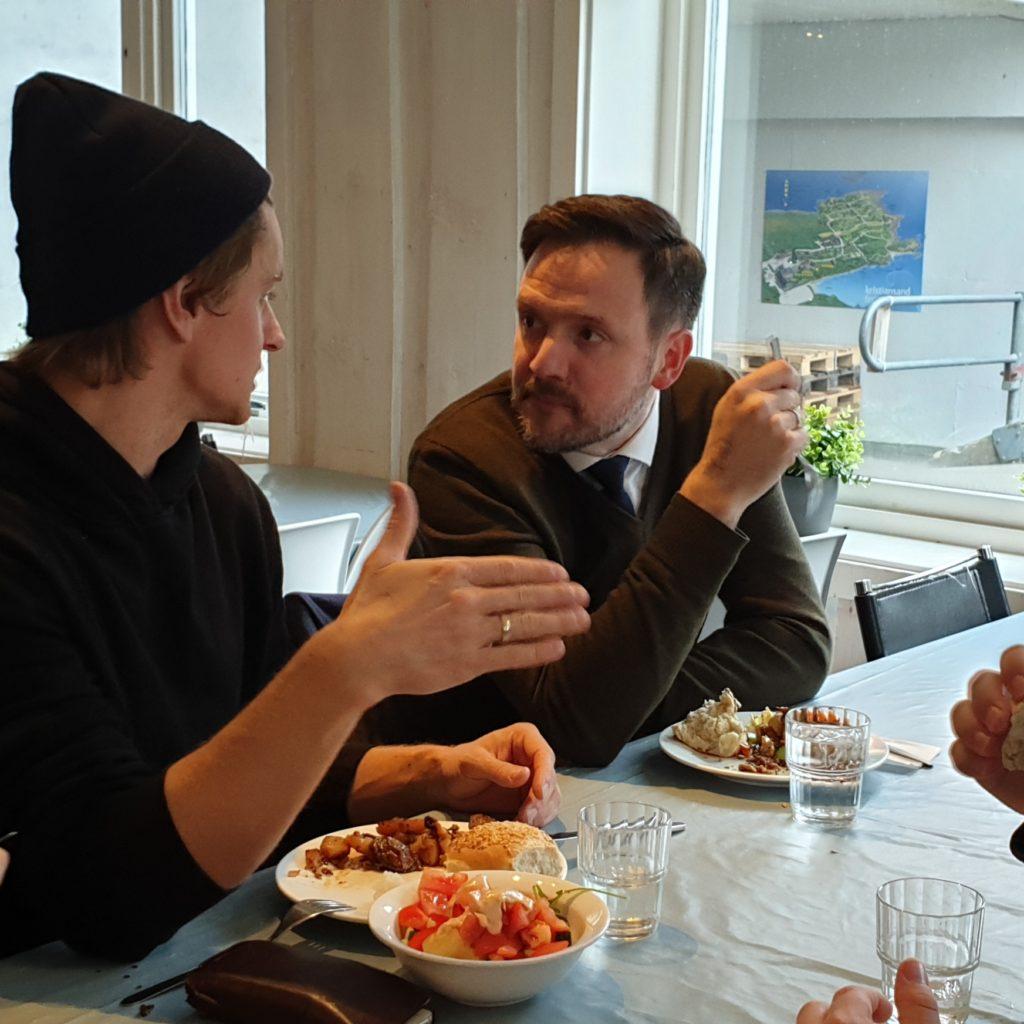 elevsamtale med Dag Inge Ulstein Kristiansand folkehøyskole
