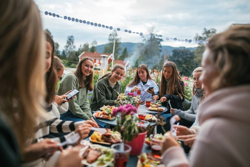 måltid gruppe Hurdal Verk folkehøgskole