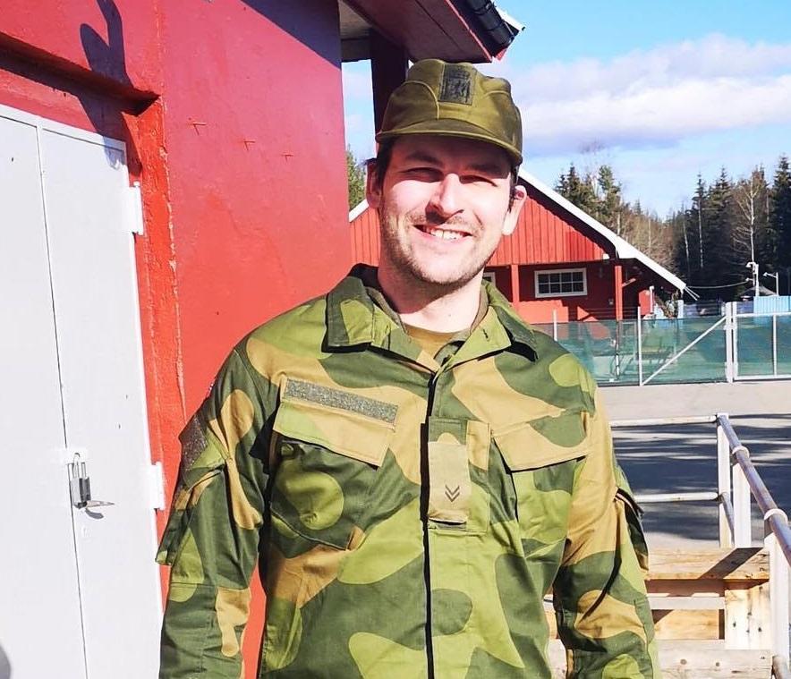 Johann Grimstvedt i uniform, Heimevernet