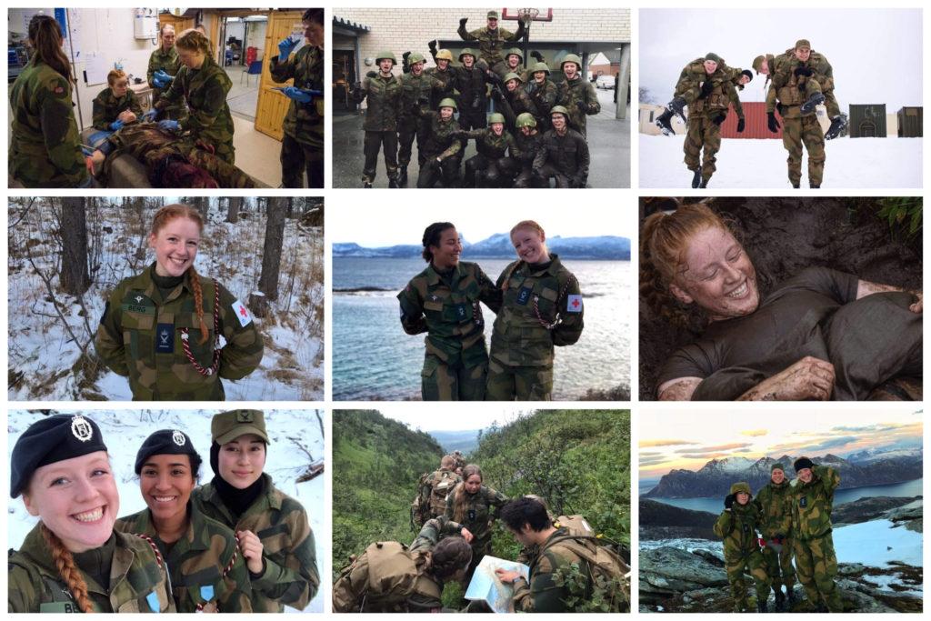 Collage med bilder fra forsvaret.