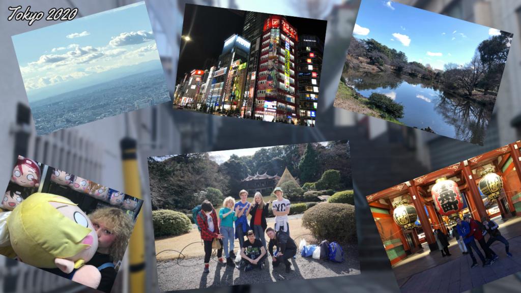 collage bilder studietur Namdals folkehøgskole