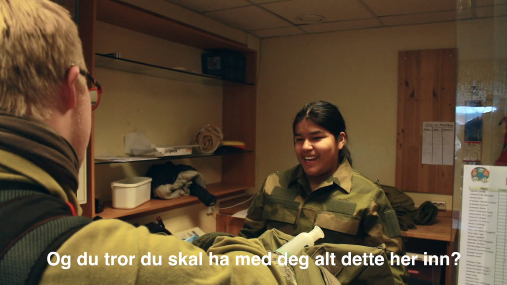 Elev i militæruniform