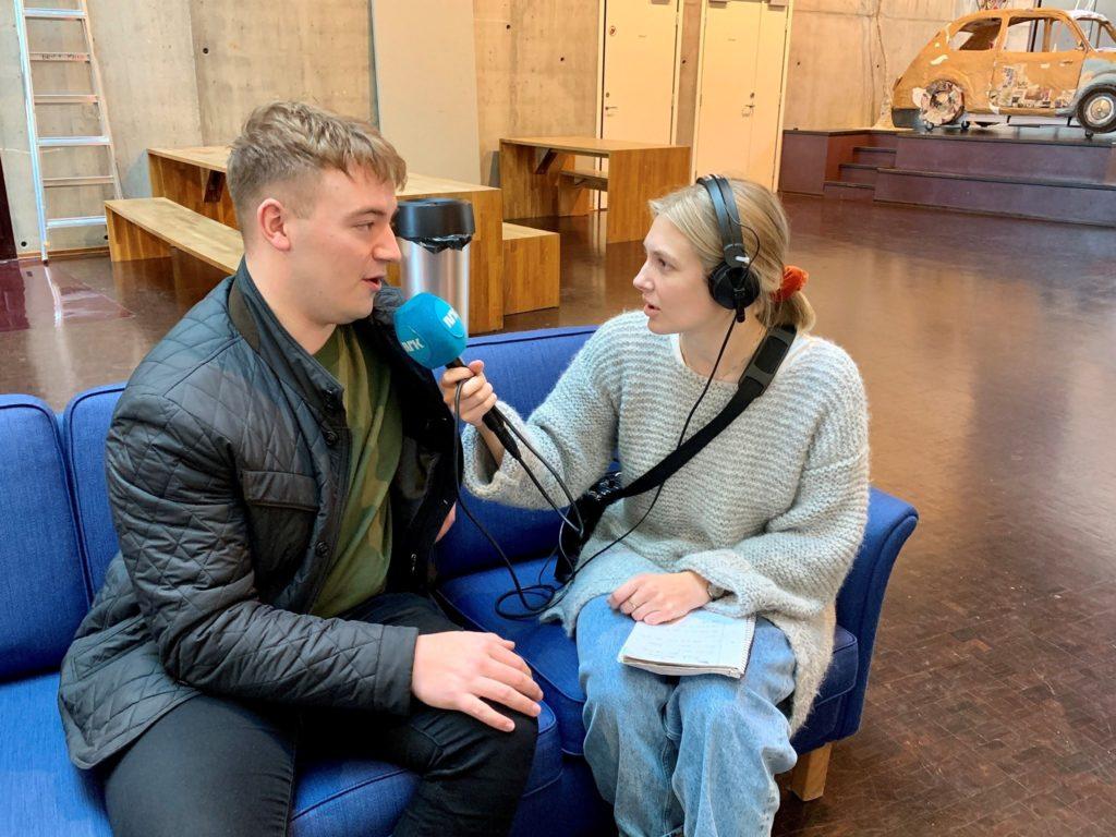 Ingrid Simensen reporter intervjuer mann