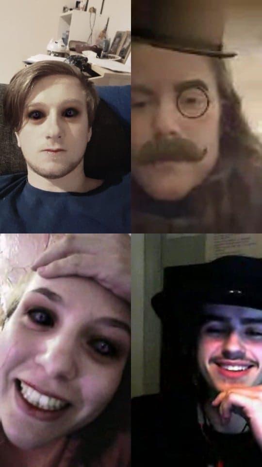 skjermbilde videosamtale fire elever