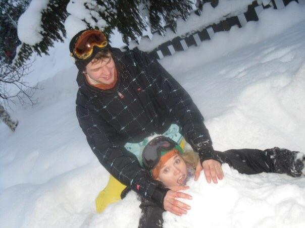 Vida Lill nedgravd i snø