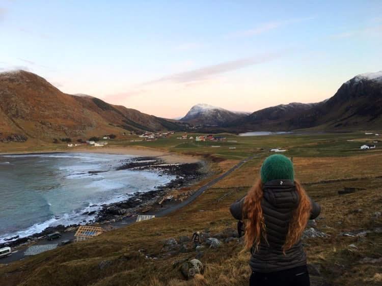Utsikt, fjell, natur. Embla i forgrunnen