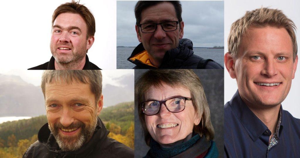portretter fem rektorer, collage
