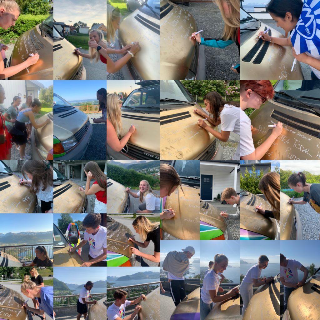 collage bilder signering