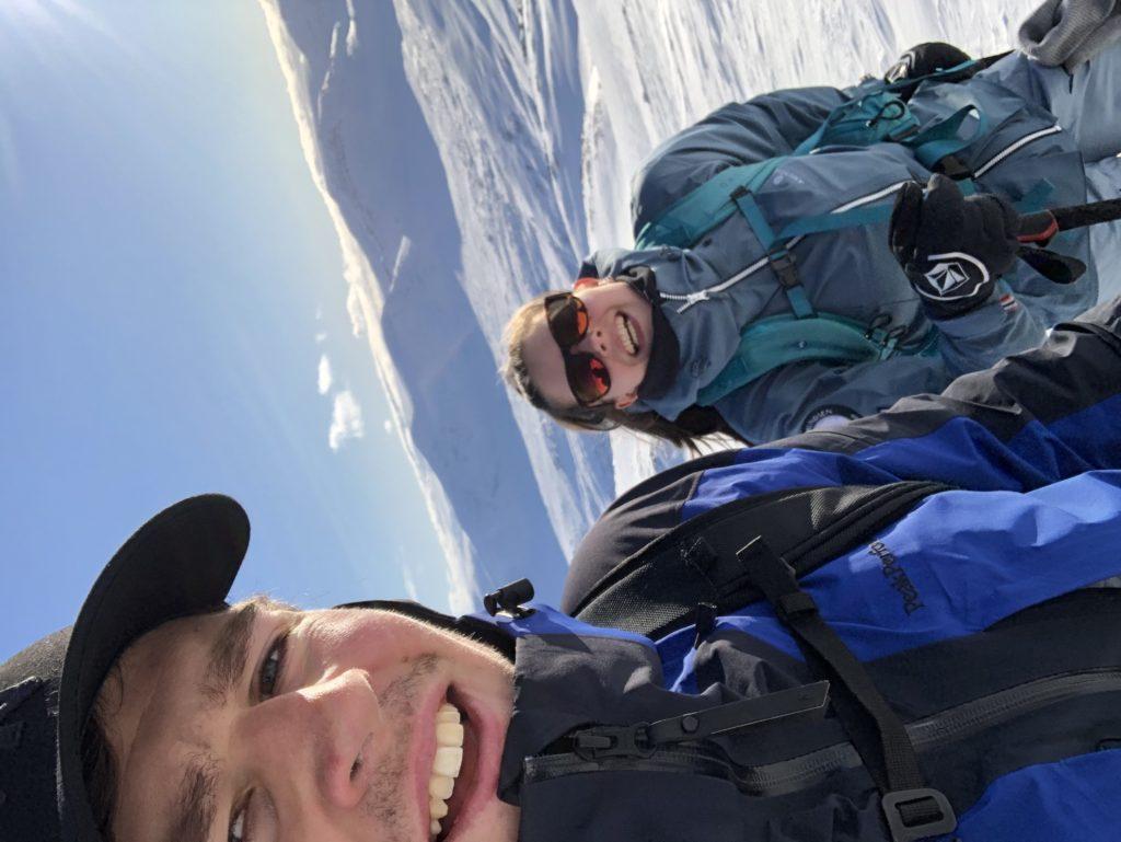 ski, nærbilde ansikt, skyfri himmel, fjell