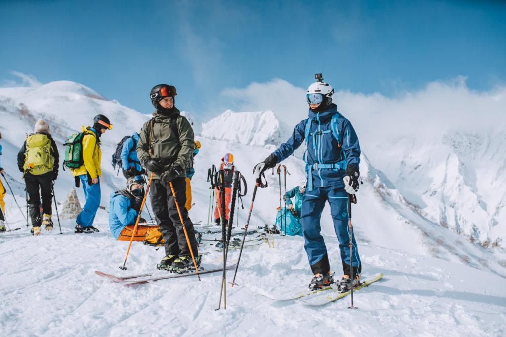 ski, fjell, Japan, gruppebilde