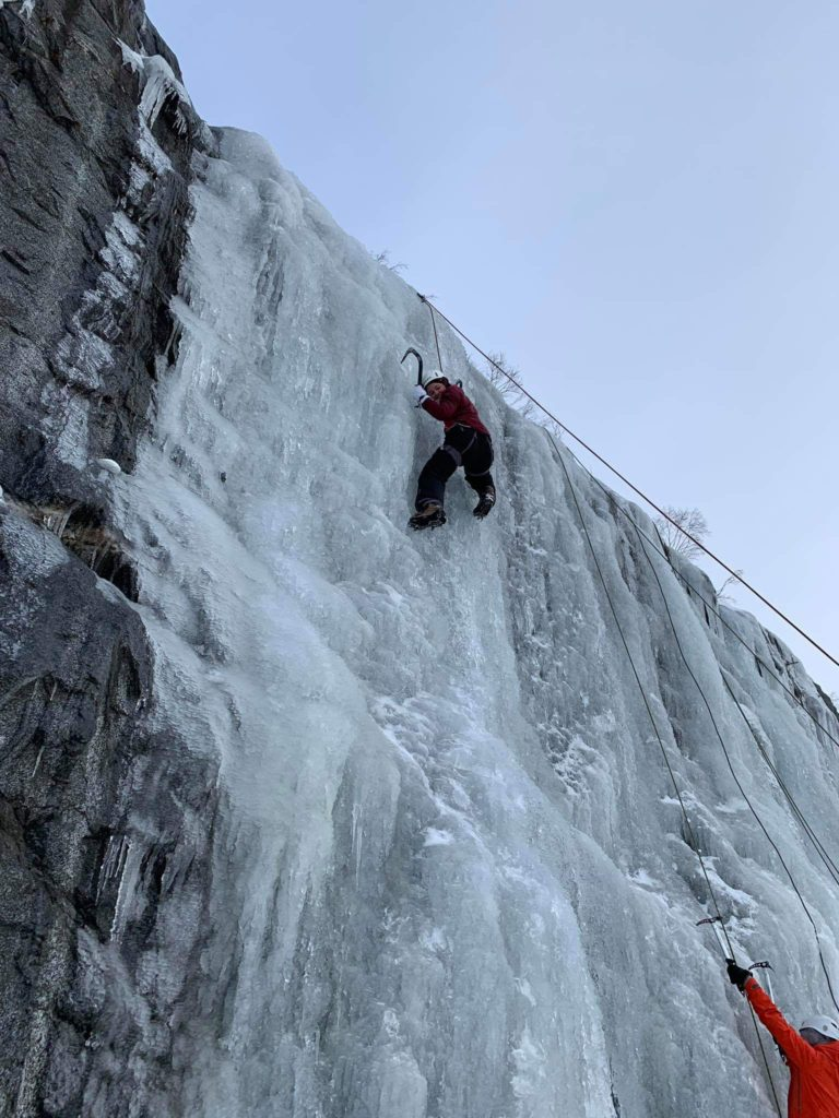 isklatring, fjellvegg