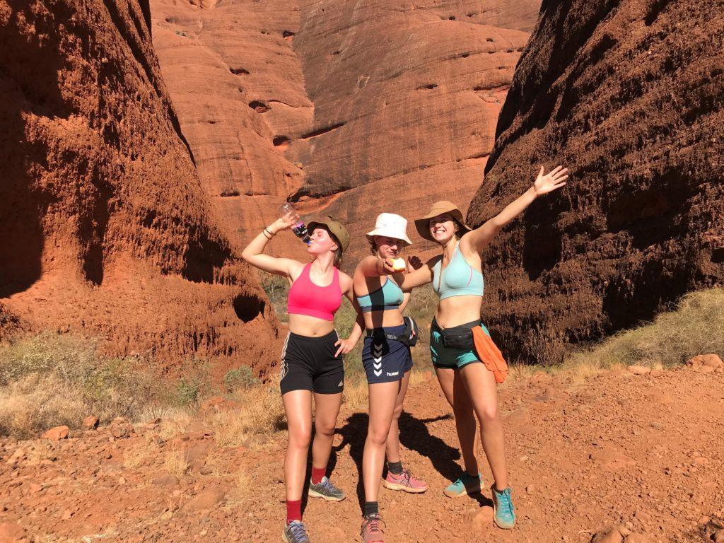 Australia, venner, gruppebilde, fjell