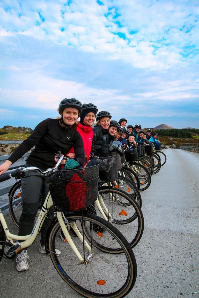 sykkeltur, gruppebilde, Sogndal folkehøgskule