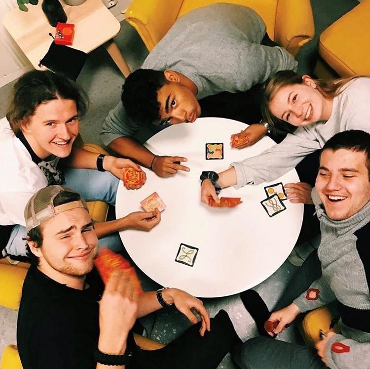 kortspill, venner, Helgeland folkehøgskole