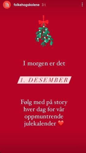 skjermbilde story Instagram julekalender